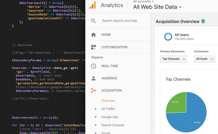 Using Google Analytics Reporting API & PHP to Retrieve Metrics Like Sessions, Hits, Bounce Rate, Goals